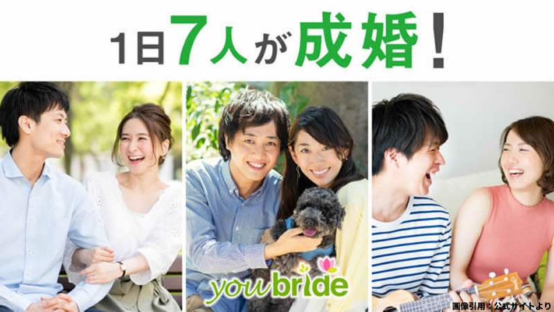 youbrideの成婚数