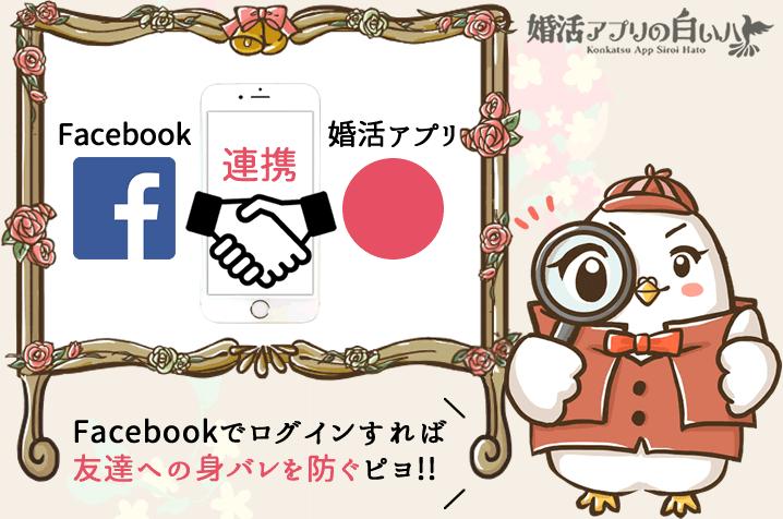 婚活マッチングアプリのFacebook連携
