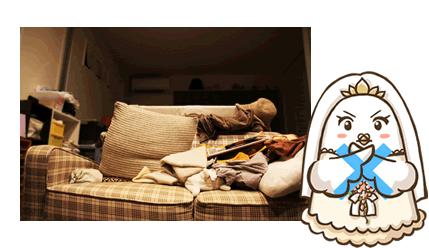 生活感がある一人暮らしの部屋