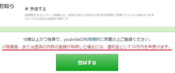 youbrideの利用規約
